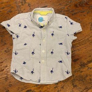 Mini Boden short sleeved shirt (Boy 3T)